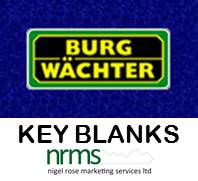 Burg Wachter Key Blanks from Nigel Rose (MS) Ltd. Lock Wholesale