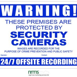 CCTV Warning Sign A3 Size from Nigel Rose (MS) Ltd. Lock Wholesale