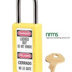 411 Thermoplastic Safety Padlock from Nigel Rose (MS) Ltd. Lock Wholesale