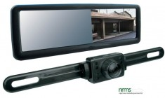 "Rearview Mirror with 4.3"" TFT-LCD Inbuilt Monitor & Number Plate Camera Kit from Nigel Rose (MS) Ltd. Lock Wholesale"