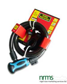Burg Wachter 1345 L Coil cable lock from Nigel Rose (MS) Ltd. Lock Wholesale