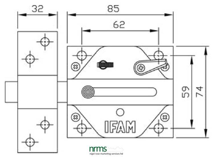 IFAM CS88 RIM LOCK for Rim Cylinder