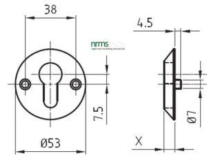 Glutz 5325S Euro Escutcheon from Nigel Rose (MS) Ltd. Lock Wholesale