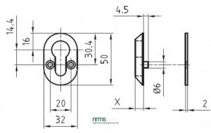 Glutz 5326S Euro Escutcheon from Nigel Rose (MS) Ltd. Lock Wholesale