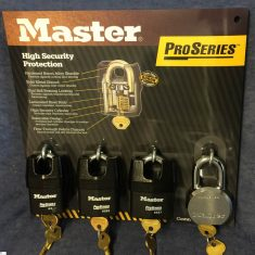 Master Lock Display Boards from Nigel Rose. Lock Wholesale