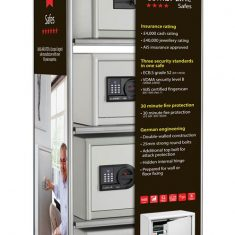 Combi-Line Safe Centre stand supplied by Nigel Rose. Lock Wholesale