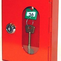 Glass Front Key Cabinets with Moveable Hooks from Nigel Rose (MS) Ltd. 'The Dedicated Locksmith Wholesaler'