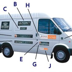 Ultion Van Window Stickers from Nigel Rose (MS) Ltd