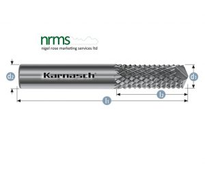 Rotary burr for PVCu