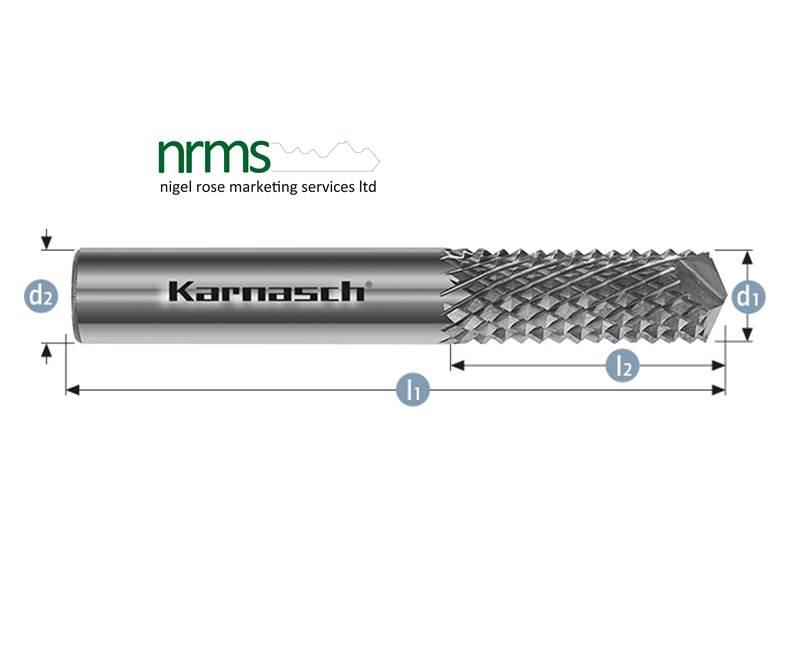 karnasch rotary burr for pvcu