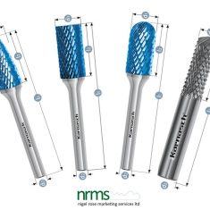 Karnasch Rotary Burr Locksmiths Set - BLUE-TEC-coated