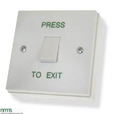 Standard plastic exit button,