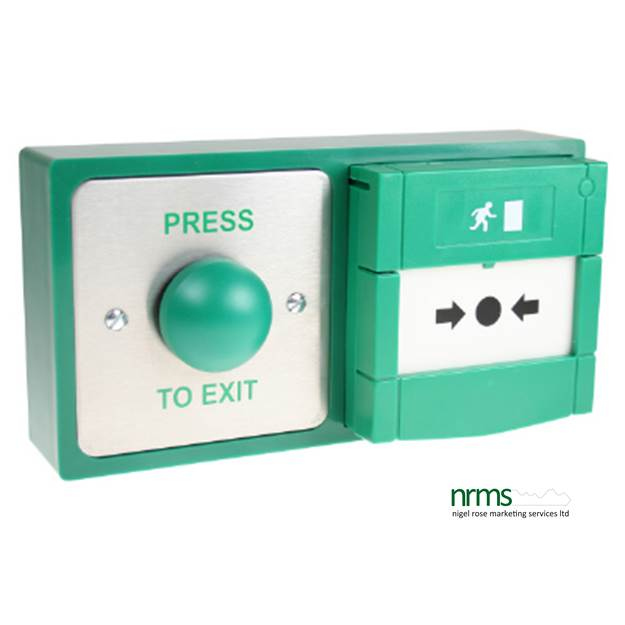 Combined exit button emergency release