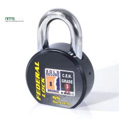FD900SL Federal Steel Rounded Body Padlock