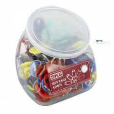Plastic Key Tags - Display Jar of 104