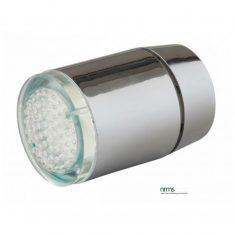Tap faucet with temperature sensitive colour LED