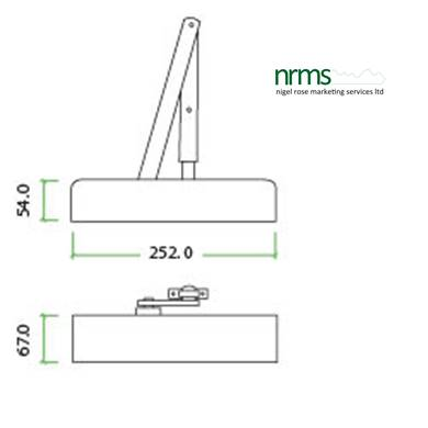 Size 2-4 Door Closer c/w Back Check & Delayed Action