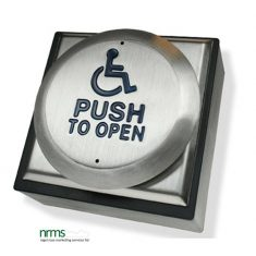 """Large All Active """"wheelchair logo & PUSH TO OPEN"""" Switch"""