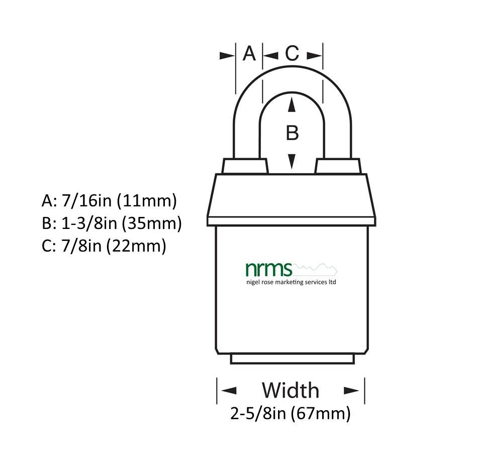 Master Lock 6127 Padlock CEN 3