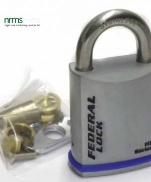 FD730BCSEUX Chrome Plated 60mm Padlock ss Shackle for Half Euro