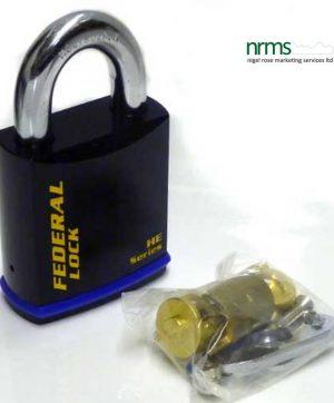FD740EUX Federal Steel Padlock 70mm for single or half