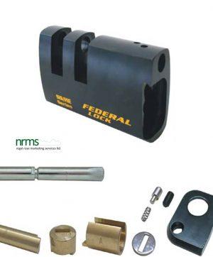 FD741DSEUX Federal rectangular steel padlock for half Euro