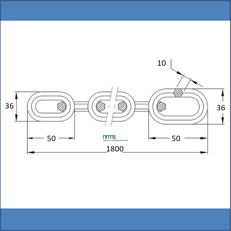 10x1800mm Hardened Chain