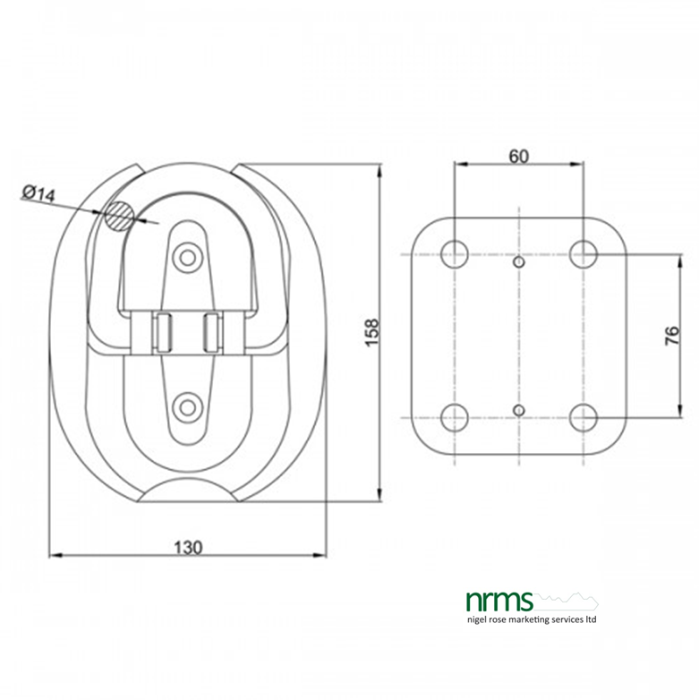 IFAM Fold Flat Ground Anchor