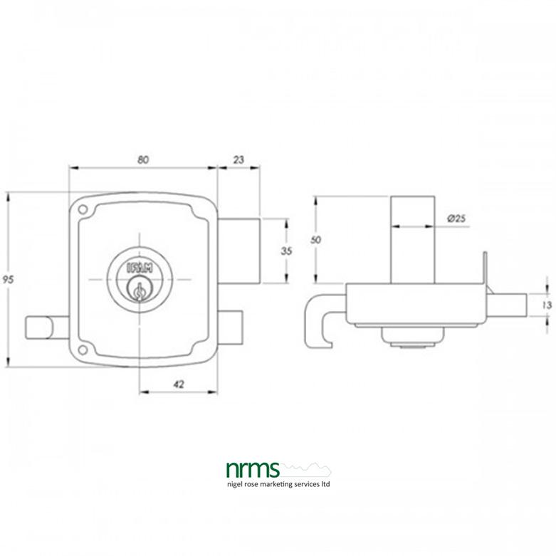 Ifam CS125 Rim Lock 80mm