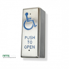 """Architrave All Active """"wheelchair logo & PUSH TO OPEN"""" Switch"""
